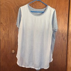 Apt. 9 gray and cream top, size 1X